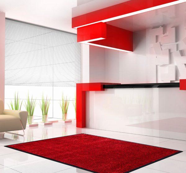 Nylonmatte-rød-melert-foto