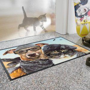Dørmatte_motiv_hund_katt-foto