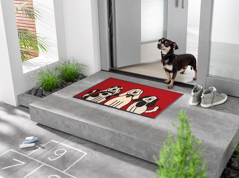 Fantastisk Three Dogs - Dørmatte med hundemotiv - NI-05