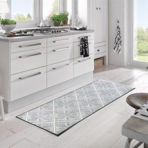 Grå-gulvmatte med mønster-foto