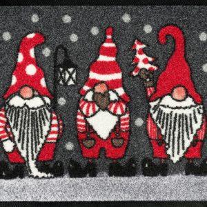 Dørmatte-julemotiv-julenisser