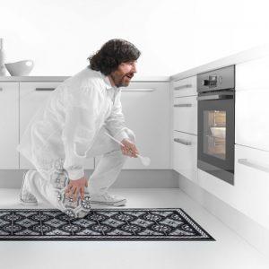 Kjøkkenteppe- foto